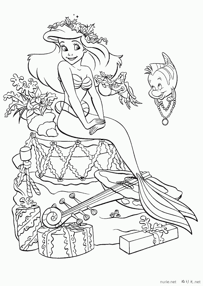 Amazoncom 8 Coloring Book The Little Mermaid Best